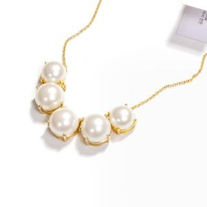 kate spade faux pearl statement necklace